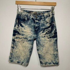 Denim & Rivets Boys Distressed Denim Shorts 14